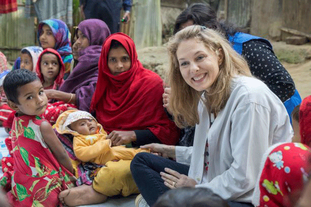 """These are our mothers, daughters, sisters and tiny babies who should be at the center of our lives and efforts…We must not fail them."" – Princess Sarah Zeid of Jordan"