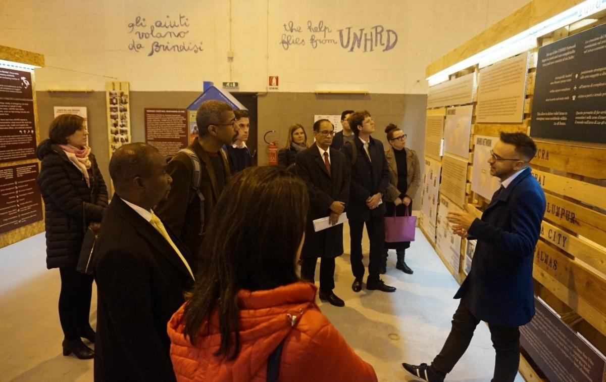 Learning about the worldwide UNHRD network.