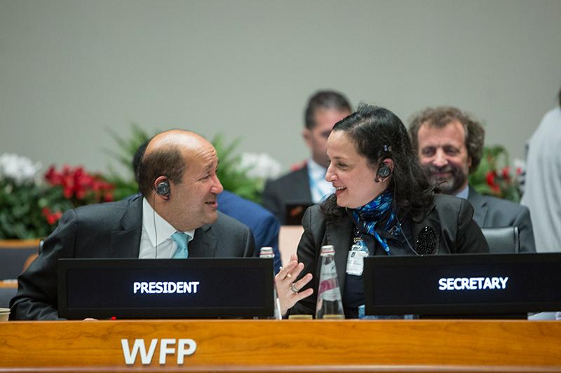 Monday afternoon session. Photo Credit: WFP/Giulio Napolitano