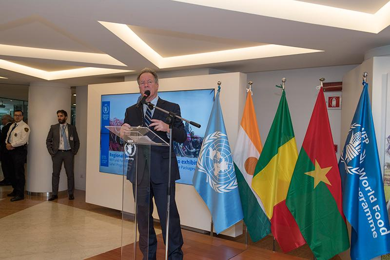 Regional Bureau for West Africa launch and ribbon-cutting ceremony for the photographic exhibition: WFP and Partners Operationalizing Integrated Resilience Packages in the Sahel: Progress, Challenges and Opportunities. Photo credit: WFP/Rein Skullerud