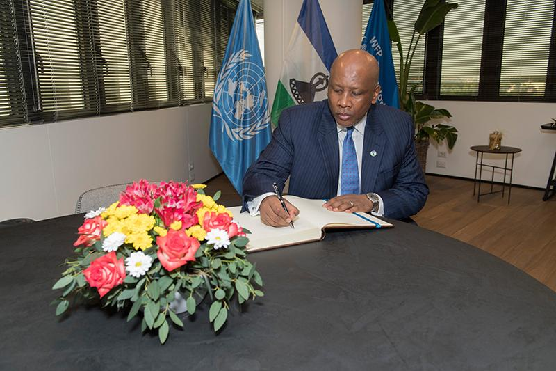 Special Guest: His Majesty King Letsie III of the Kingdom of Lesotho_Photo Credit: WFP/Rein Skullerud