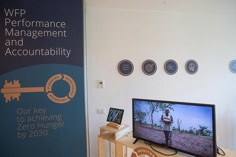 Exhibition on WFP Performance Management and Accountability_Photo Credit: WFP/Giulio Napolitano